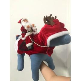 Disfraz navideño con Santa...