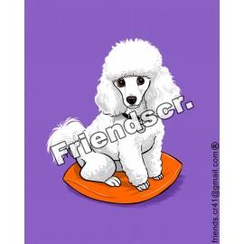 Sticker  Poodle