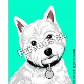 Sticker West Highland White...