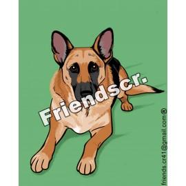 Sticker Deutscher Schäferhund