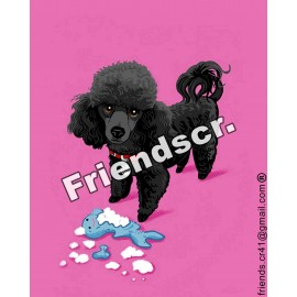 Sticker French Poodle