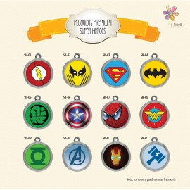 Plaquita Premium Super Heroes
