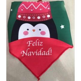 Pañuelo navideño pingüino