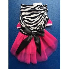 Vestido estampado de zebra...