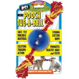Pooch tug a pelota con cuerda
